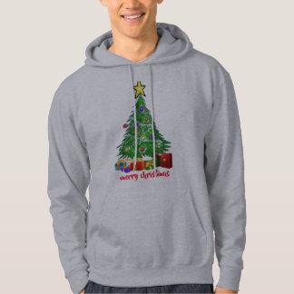 Moletom O hoodie dos homens das mulheres do Feliz Natal da