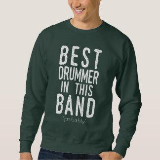 Moletom O melhor baterista (provavelmente) (branco)