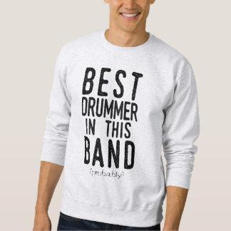 Moletom O melhor baterista (provavelmente) (preto)