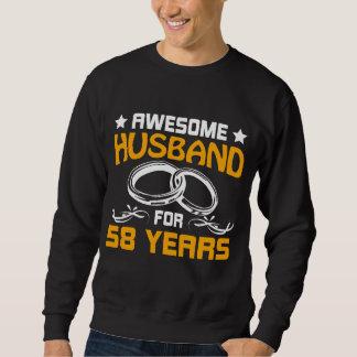 Moletom O melhor t-shirt para o marido. 58th Presente do