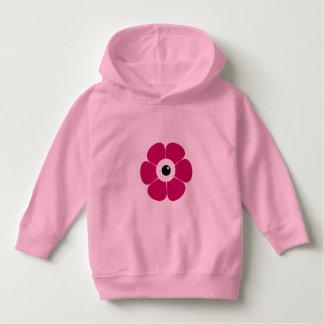 Moletom o olho da flor cor-de-rosa