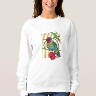 Moletom O ouro do pássaro de Colibri listra a camisola