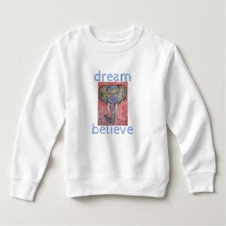 Moletom O sonho acredita a camisola da criança da arte do