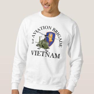 Moletom ø Veterinário Huey de Vietnam dos Bde dos Avn