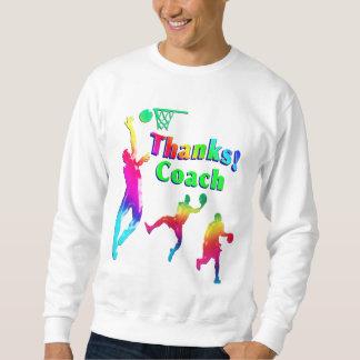 Moletom Obrigado colorido do treinador de beisebol você