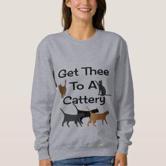 Moletom Obtenha Thee a uma camisola do Cattery
