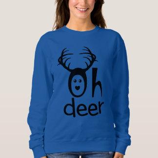 Moletom Oh camisola dos cervos para mulheres