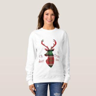 Moletom Oh cervos, é tempo do Natal! Cervos da xadrez no