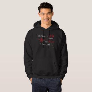 Moletom Os olhares para parar um hoodie dos cuidados do