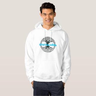 Moletom Outlandia - árvore - Hoodie com letras azuis