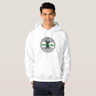 Moletom Outlandia - árvore - Hoodie com letras verdes