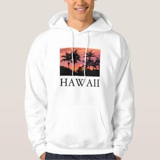 Moletom Palmeiras mostradas em silhueta, Havaí
