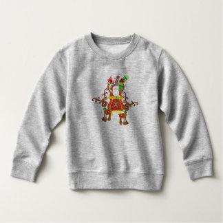 Moletom Papai Noel e camisola bonitos das renas  