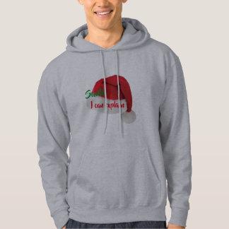 Moletom papai noel eu posso explicar o hoodie dos homens