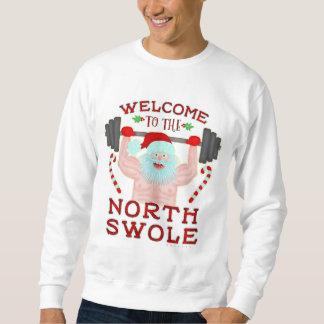 Moletom Papai noel feio engraçado Swole norte da camisola