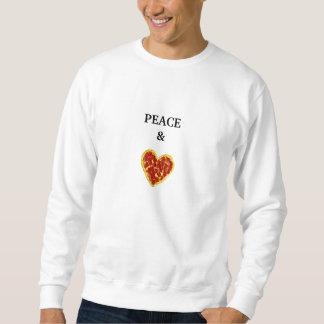 Moletom Paz & pizza Crewneck