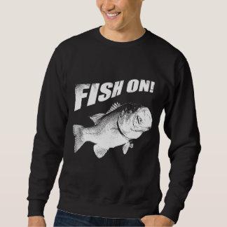 Moletom Peixes do baixo Largemouth sobre