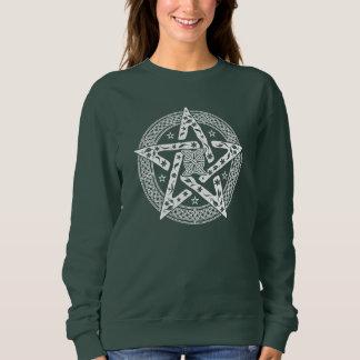 Moletom Pentagram celta do nó de Wiccan com teste padrão