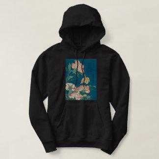 Moletom Peônias de Hokusai do vintage e arte amarela de