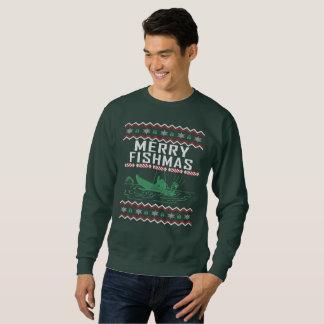 Moletom Pescando a feliz feia Fishmas da camisola do Natal