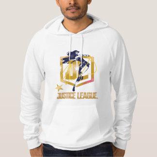 Moletom Pop art do logotipo da mulher maravilha JL da liga