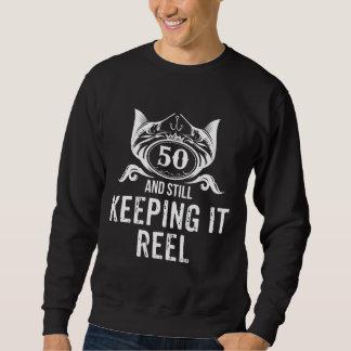 Moletom Presente de aniversário da pesca por 50 anos velho