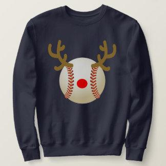 Moletom presente engraçado do Natal do t-shirt do basebol
