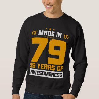 Moletom Presente para o 39th aniversário. T-shirt para