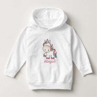Moletom Presentes personalizados do unicórnio de Abigail