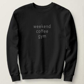 Moletom Preto do slogan do T da camisola da palavra do Gym