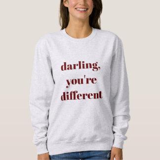 Moletom Querido, você é camisola diferente