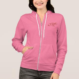 Moletom rosa customizável do hoodie do alfabeto do
