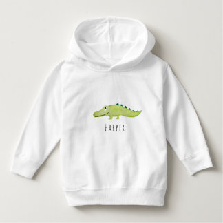 Moletom Safari unisex bonito do crocodilo da aguarela com