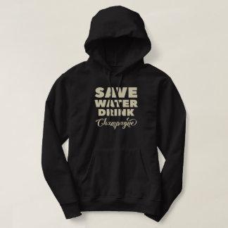 Moletom Salvar a água, bebida Champagne