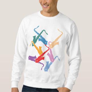 Moletom Saxofones coloridos