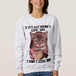 Moletom Se meu gato não gosta de você mim não goste de