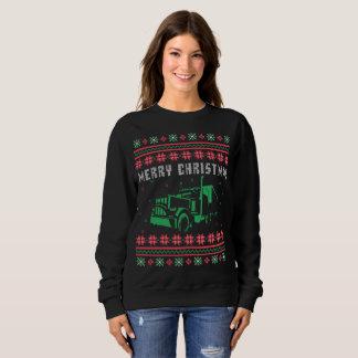 Moletom Semi camisola feia do Natal do caminhão