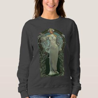 Moletom Senhora branca Escuro Camisola de Nouveau da arte