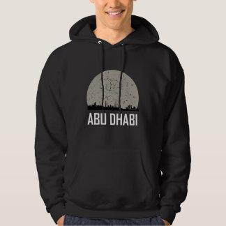 Moletom Skyline da Lua cheia de Abu Dhabi