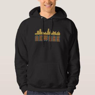 Moletom Skyline de Newark New-jersey do estilo do vintage