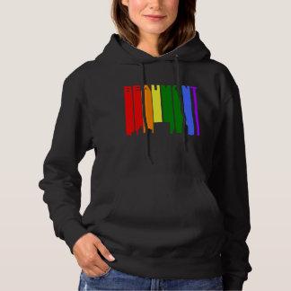 Moletom Skyline do arco-íris do orgulho gay de Beaumont