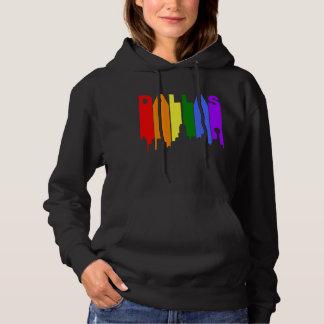 Moletom Skyline do arco-íris do orgulho gay de Dallas
