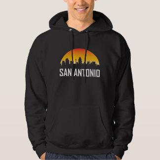 Moletom Skyline do por do sol de San Antonio Texas