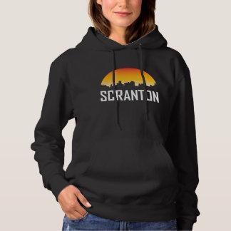 Moletom Skyline do por do sol de Scranton Pensilvânia