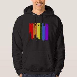 Moletom Skyline móvel do arco-íris do orgulho gay de