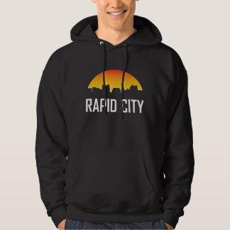 Moletom Skyline rápida do por do sol de South Dakota da