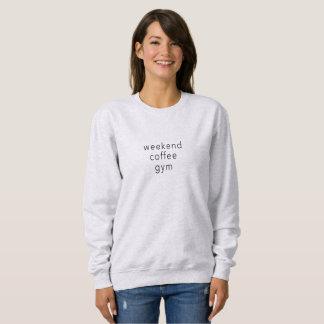 Moletom Slogan do T da camisola da palavra do Gym do café