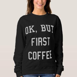 Moletom Sweat COFFEE Branco - Mulher