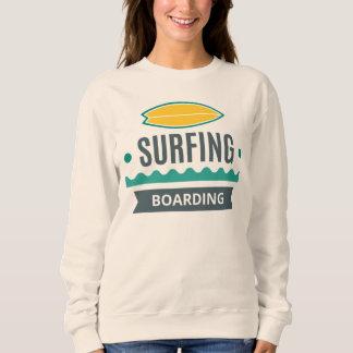 Moletom Sweat Mulher Branco Básico Surf