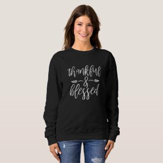 Moletom Sweatershirt grato e abençoado